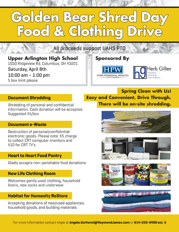 Shred Day, Food & Clothing Drive
